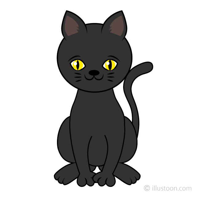 Cute Black Cat Clipart