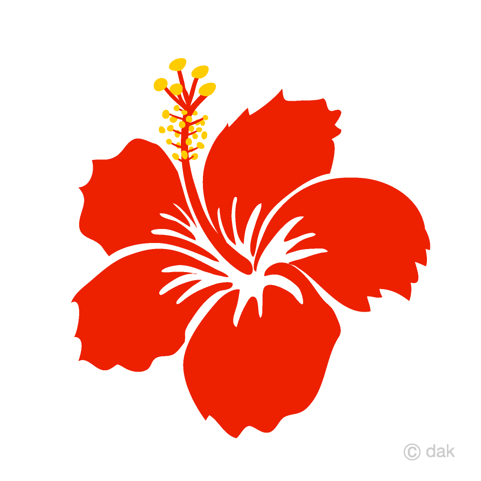 Red Hibiscus Flower Clipart