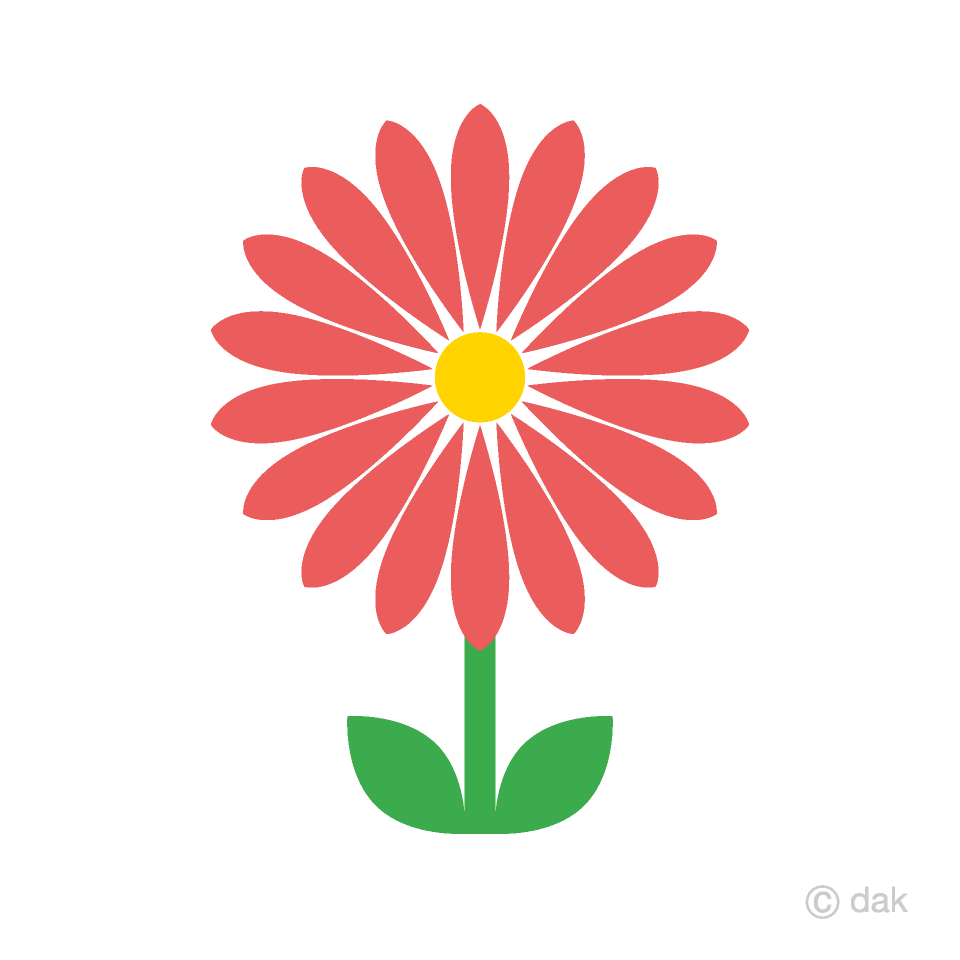Red Wildflower Clipart