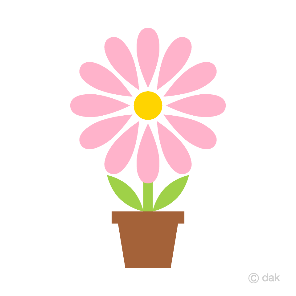 Cute Light Pink Potted Flower