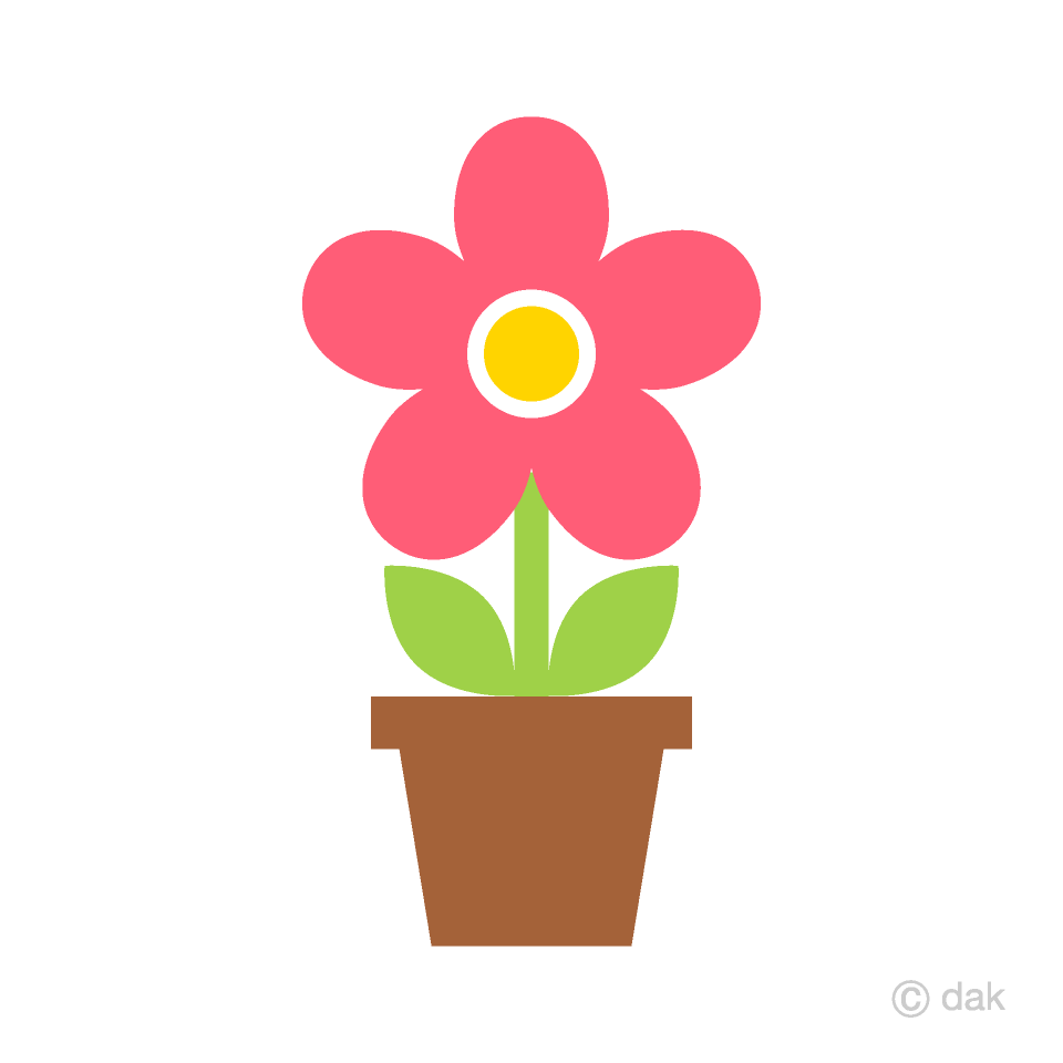 Cute Pink Potted Flower