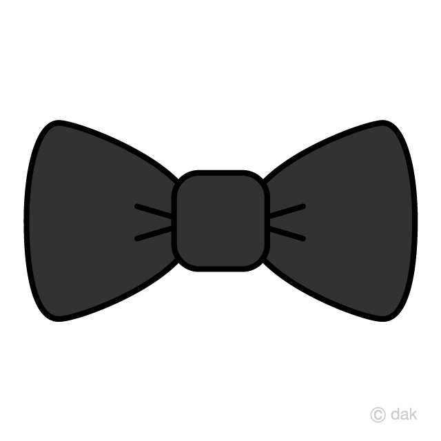 Bow tie black. Clipart free picture illustoon