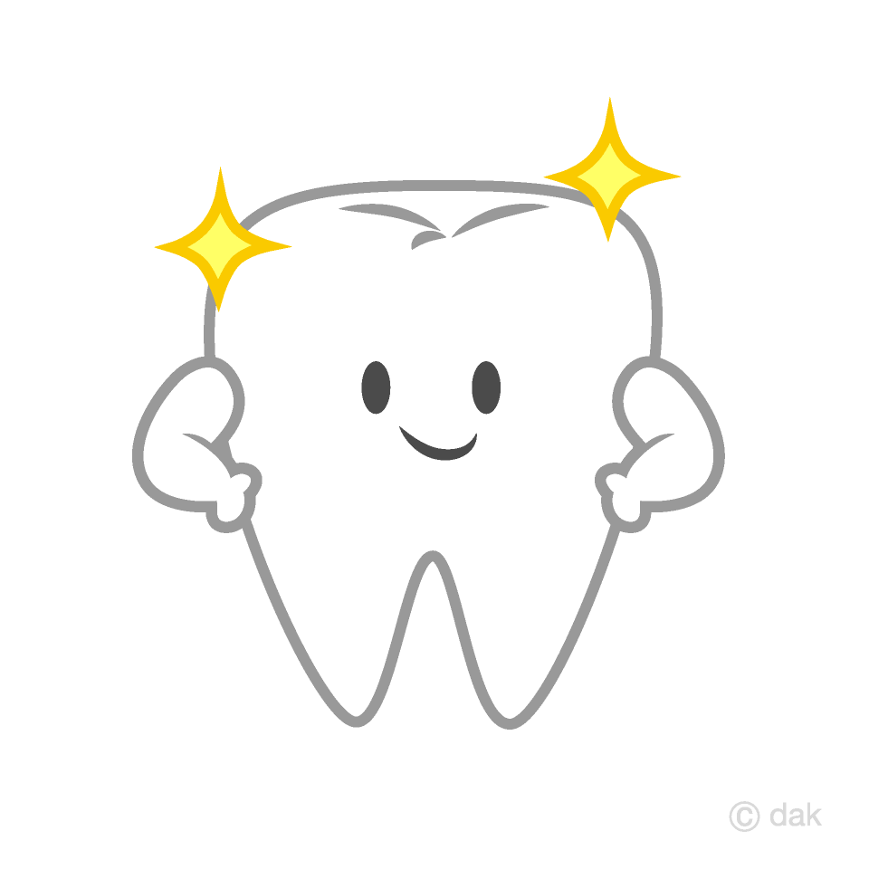Shiny Cute Tooth Clipart Free Png Image Illustoon