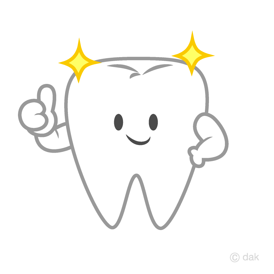 Thumbs up Cute Tooth Clipart
