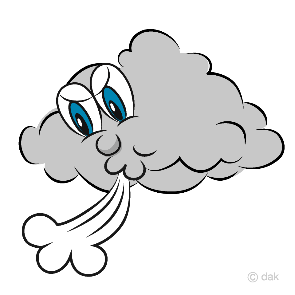 Windstorm Cloud Cartoon