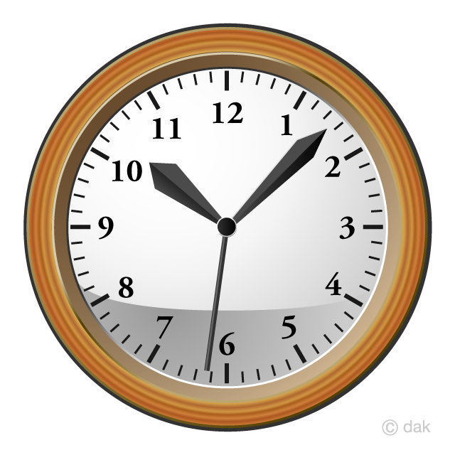 Wood Clock Clipart