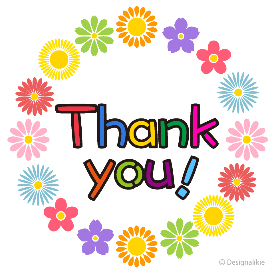 Thank you flower. Cute wreath clipart free