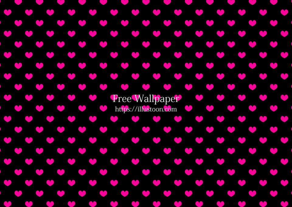 Black And Pink Heart Wallpaper Free Png Image Illustoon