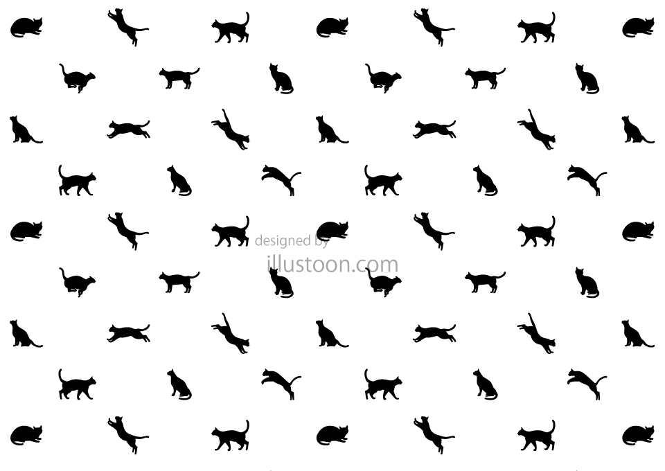 Black Cat Pattern Wallpaper