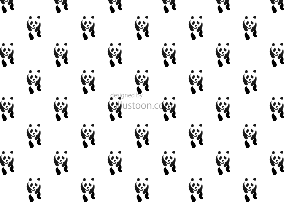 Panda Pattern Wallpaper