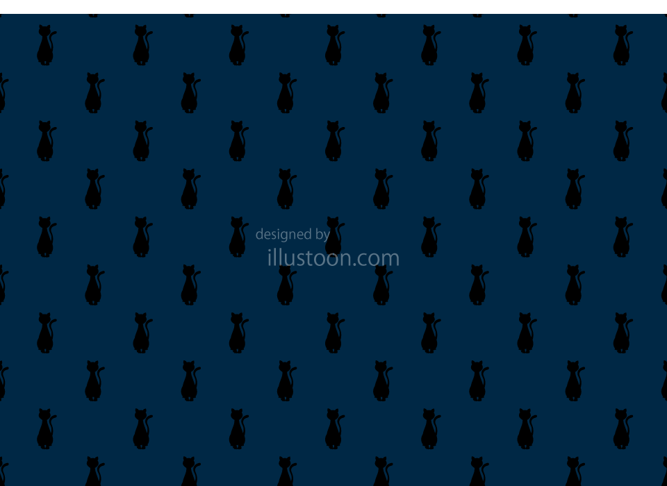 Cats Navy Wallpaper