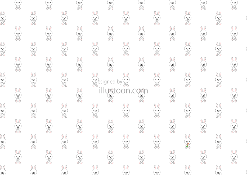 Cute Rabbits Pattern Wallpaper