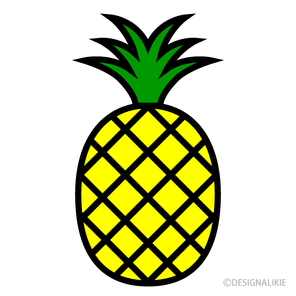Simple Pineapple Clipart