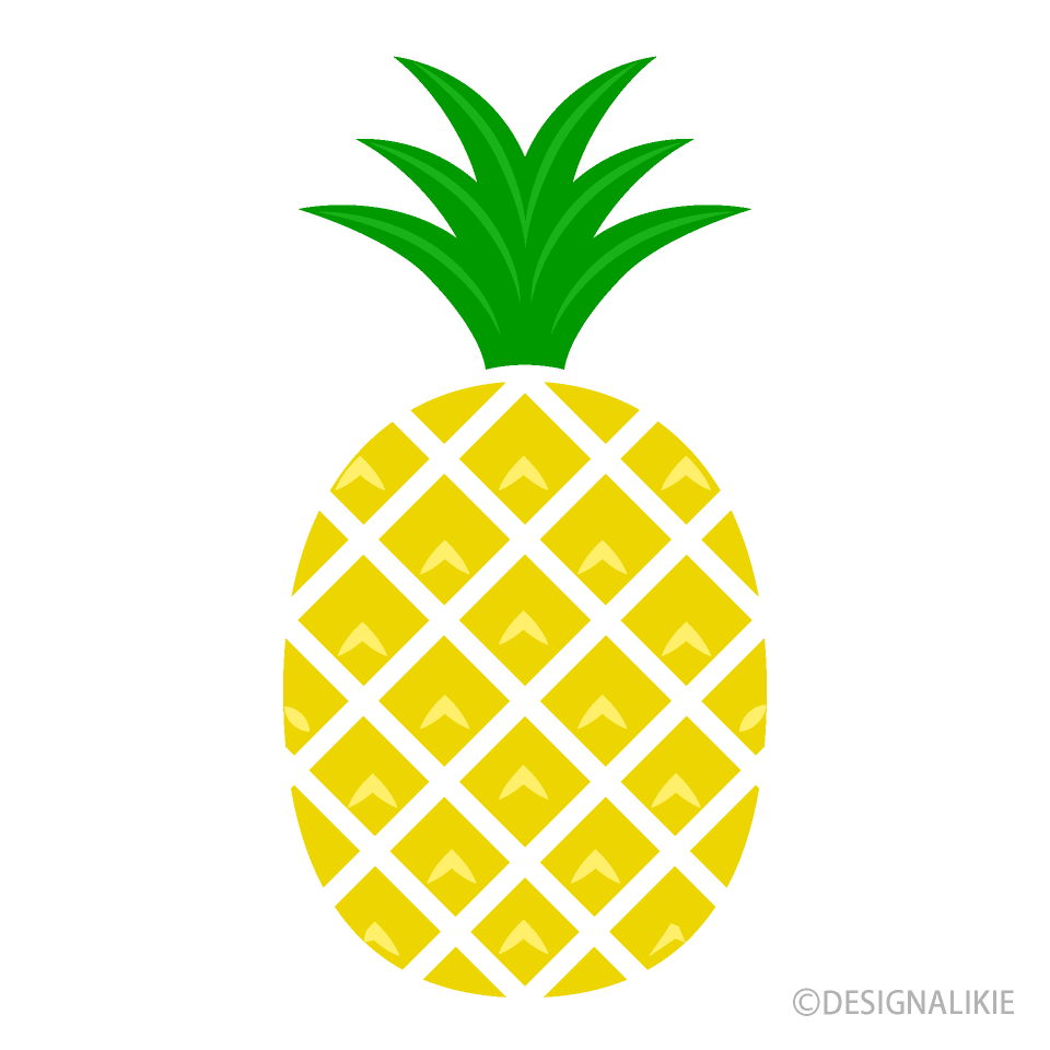 Yellow Pineapple Clipart