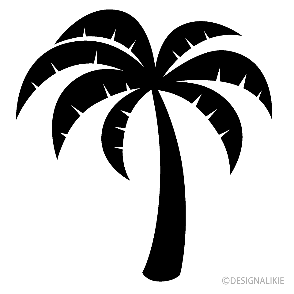 Simple Palm Tree Black and White