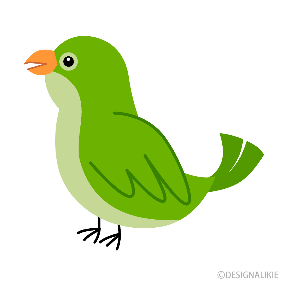 Cute Green Bird Clipart