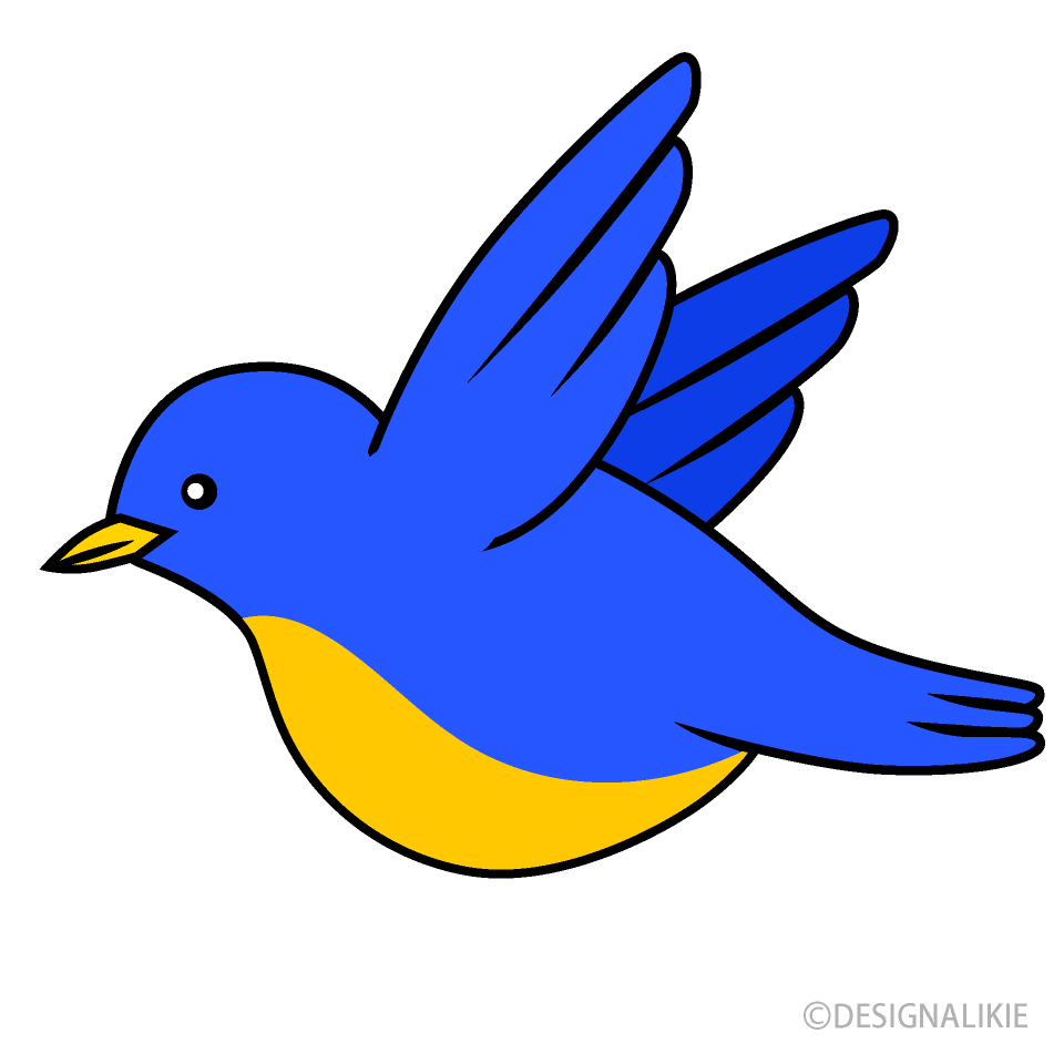 Flying Blue Bird Clipart