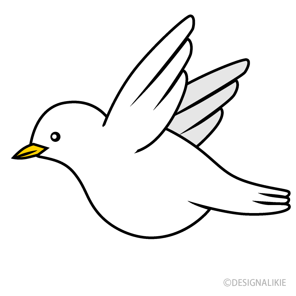 Flying White Bird Clipart Free Png Image Illustoon