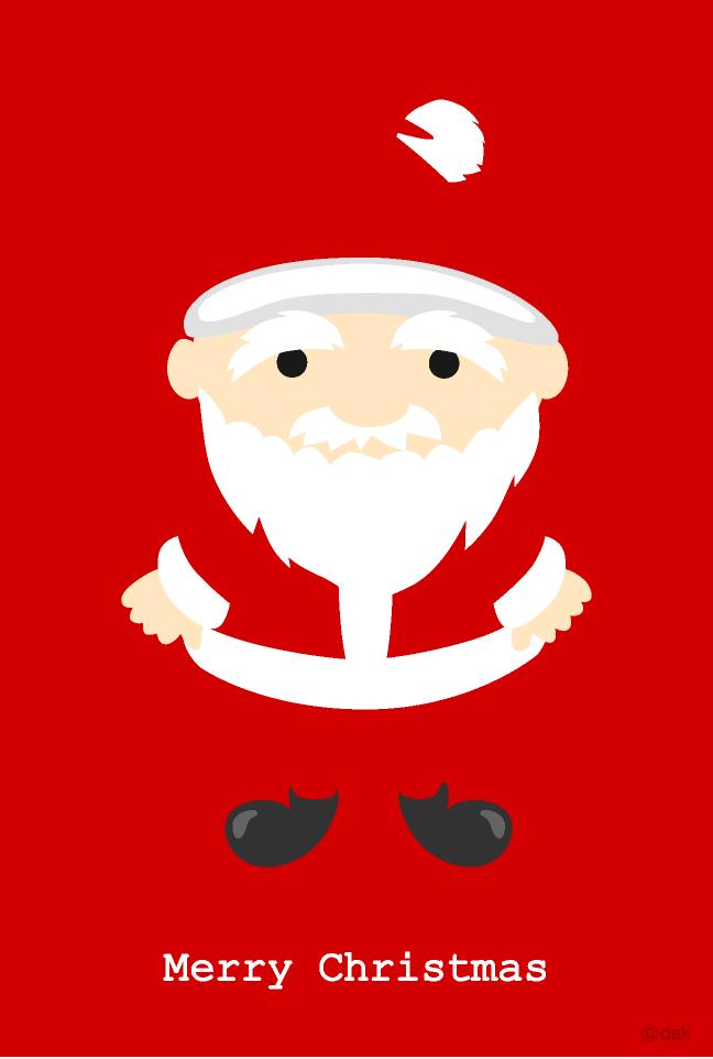 Christmas Card Clip Art.Cute Santa Claus Christmas Card Free Picture Illustoon