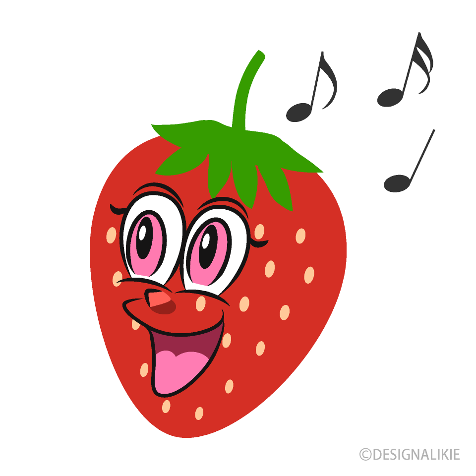 Strawberry to Sing Cartoon