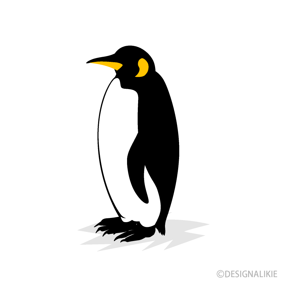 Penguin from Side Clipart