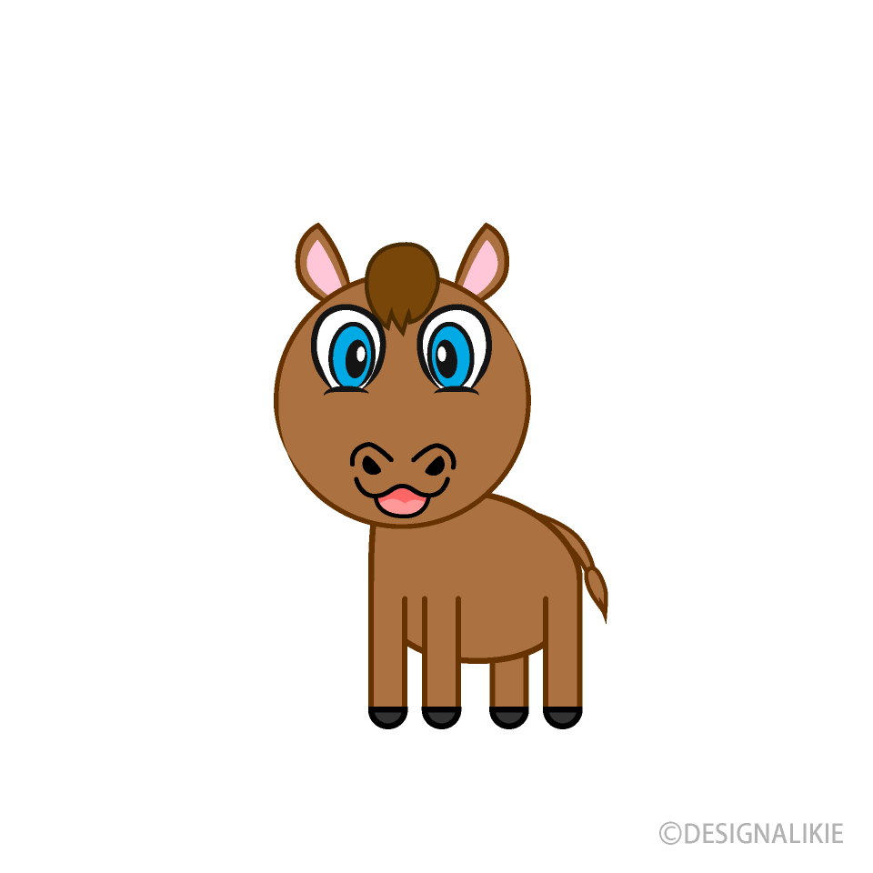 Child Horse Cartoon