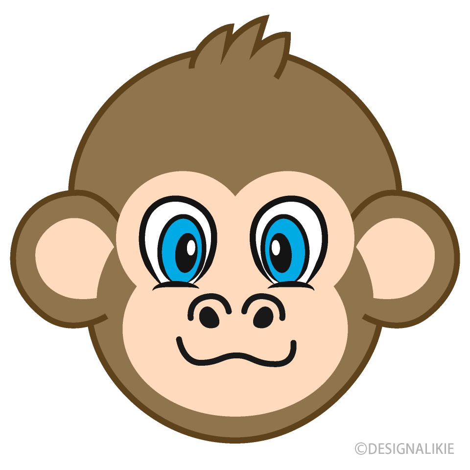Monkey Face Cartoon