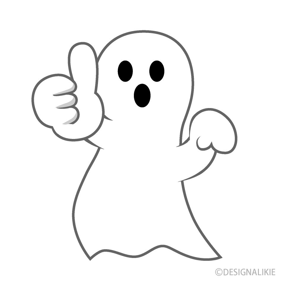 Thumbs up Ghost Cartoon