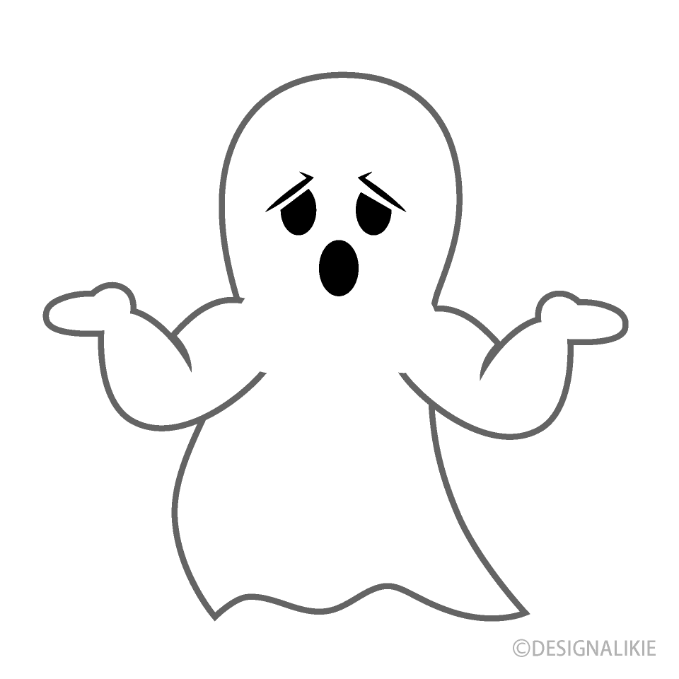 Troubled Ghost Cartoon