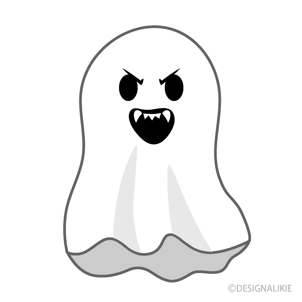Angry Ghost Cartoon