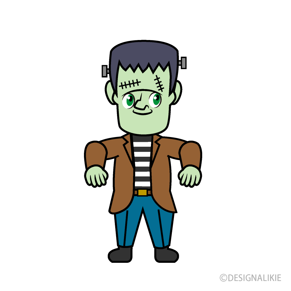 Cute Frankenstein Cartoon