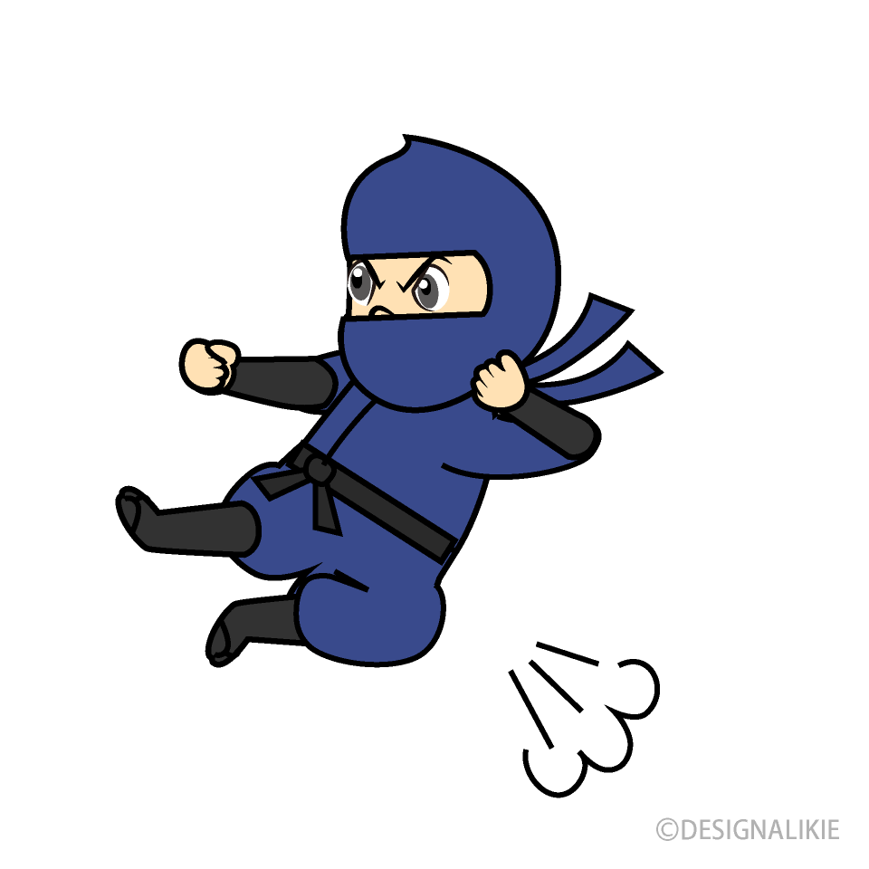 Kicking Ninja Cartoon
