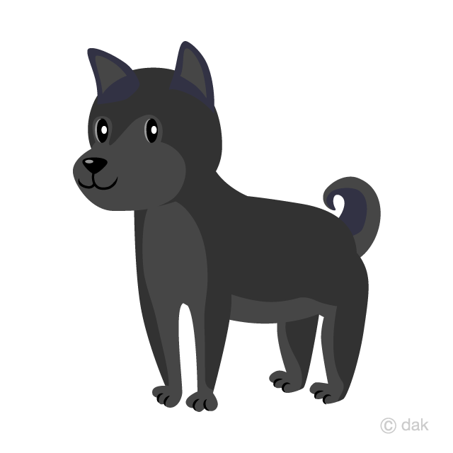 Black Dog Clipart