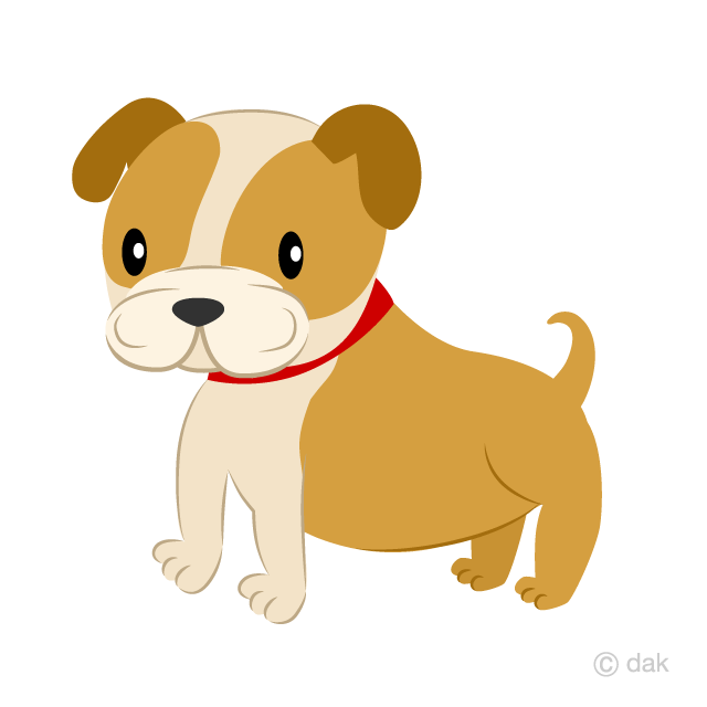 Cute Bulldog Clipart Free Pictureillustoon