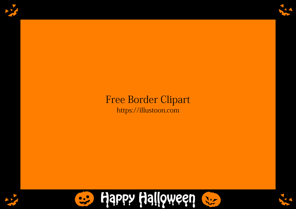 Halloween Pumpkin Black Border