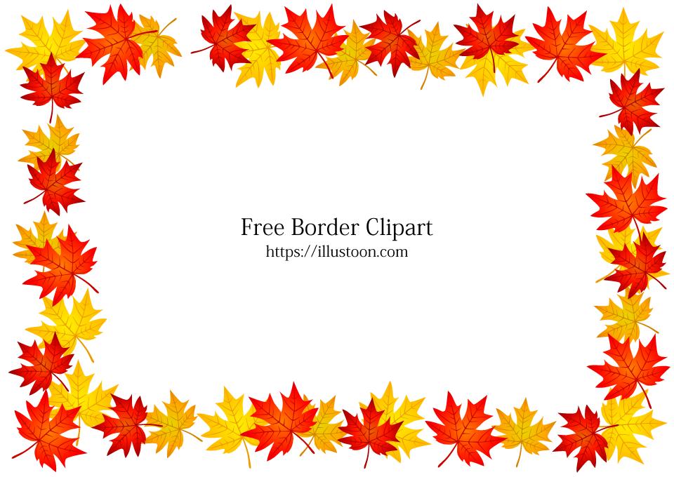 Autumn Leaves Border Free Png Image Illustoon