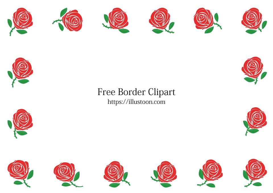 Rose Border Clip Art - Royalty Free - GoGraph