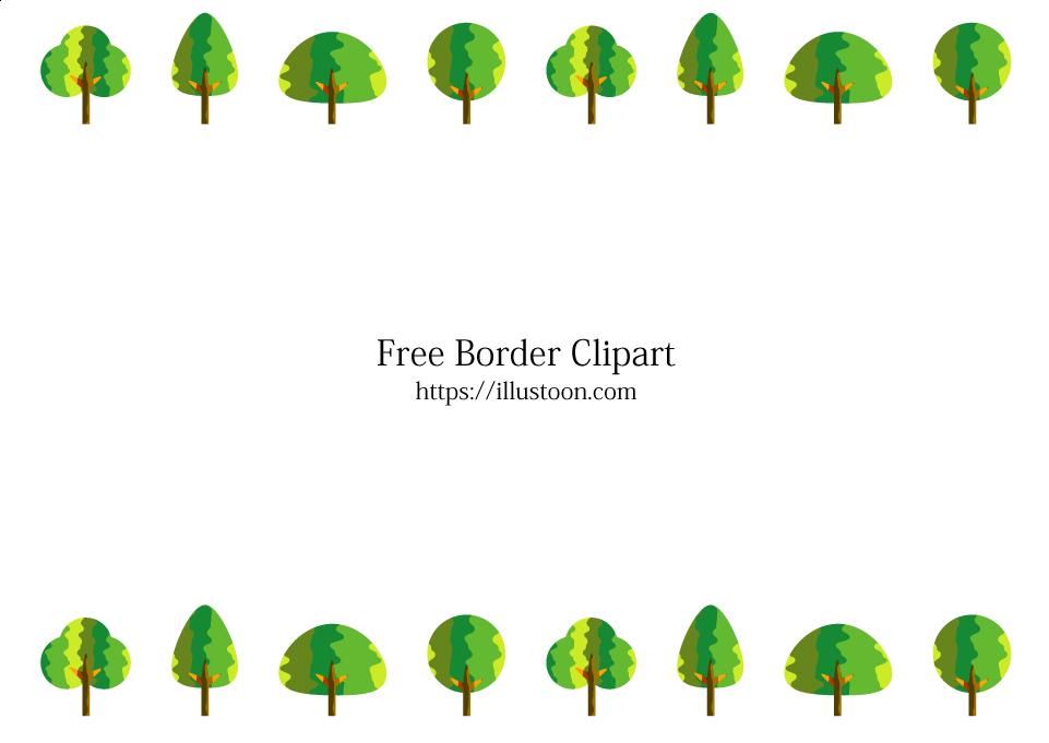 Cute Trees Border Free Png Image Illustoon