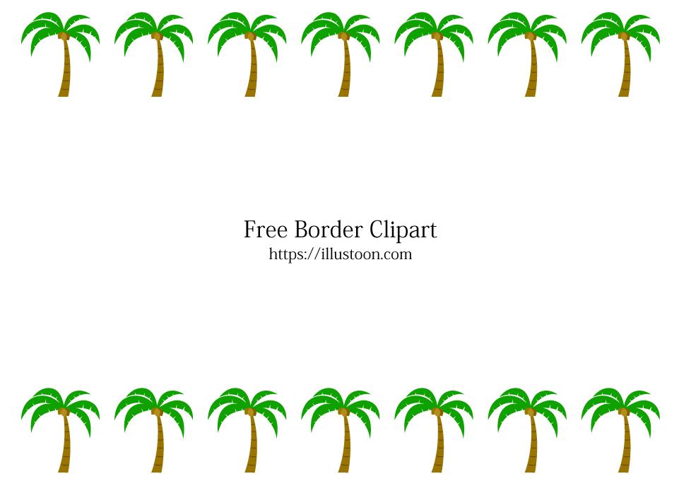 Palm Trees Border Free Png Image Illustoon