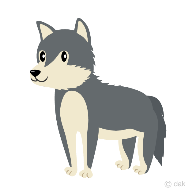 Wolf cool. Cute clipart free picture