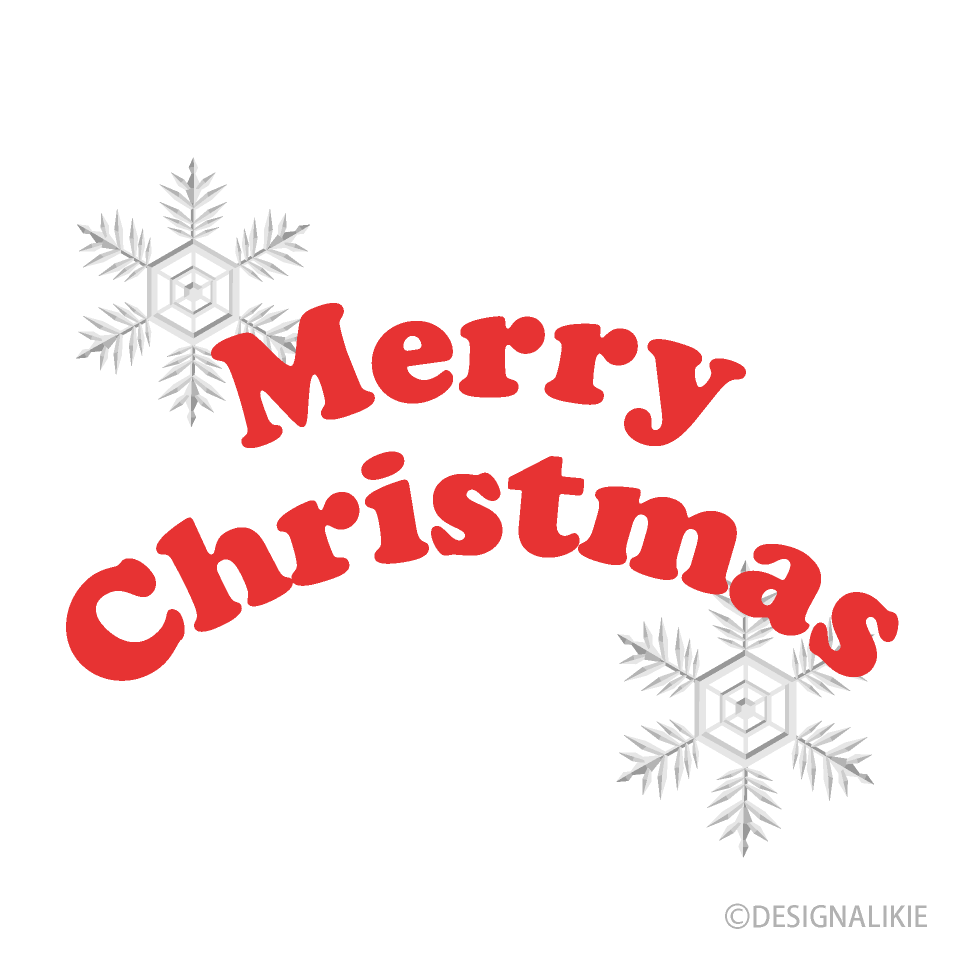 Snowflakes and Merry Christmas Clipart