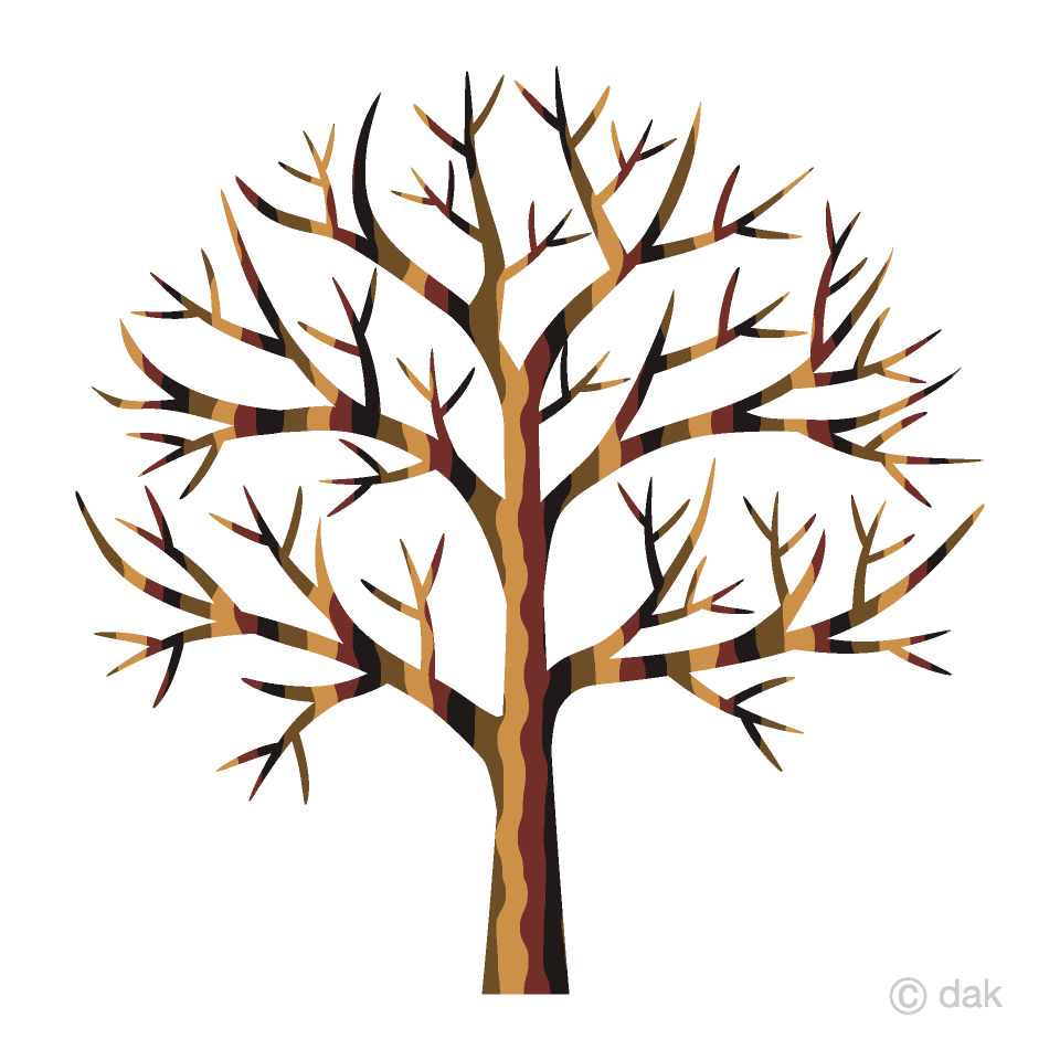 Cute Leafless Tree Clipart