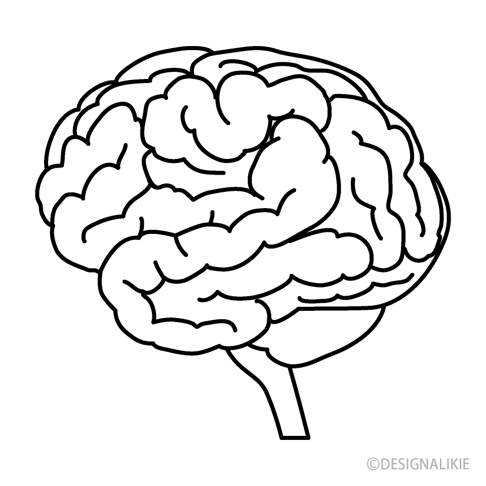 black and white brain clipart free png image illustoon black and white brain clipart free png