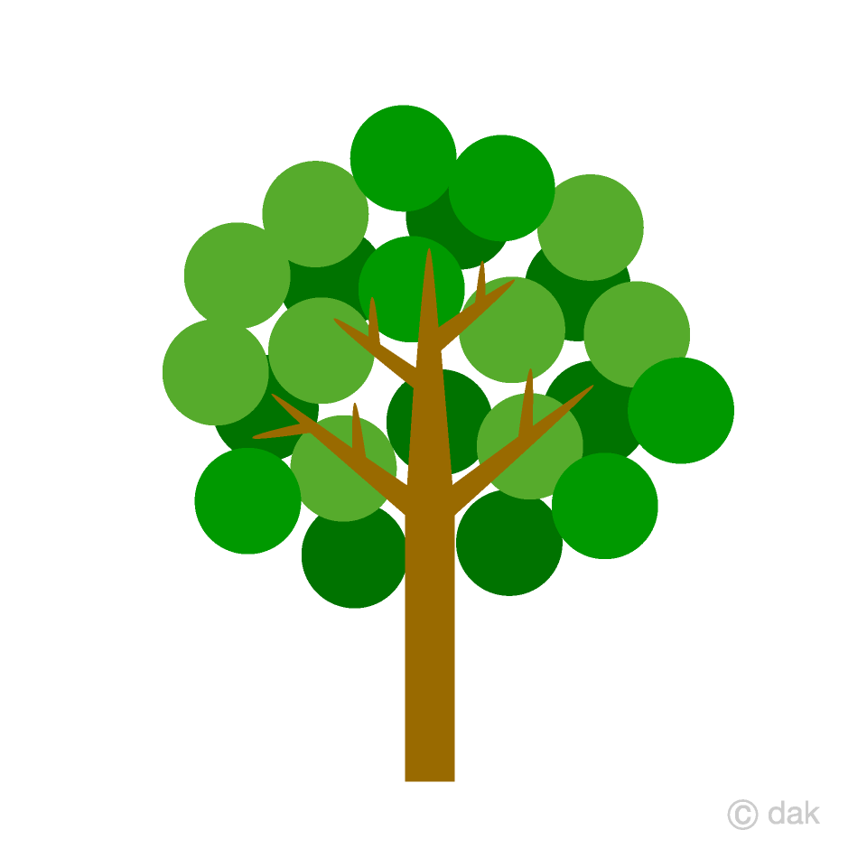Round  Leaf Tree Clipart