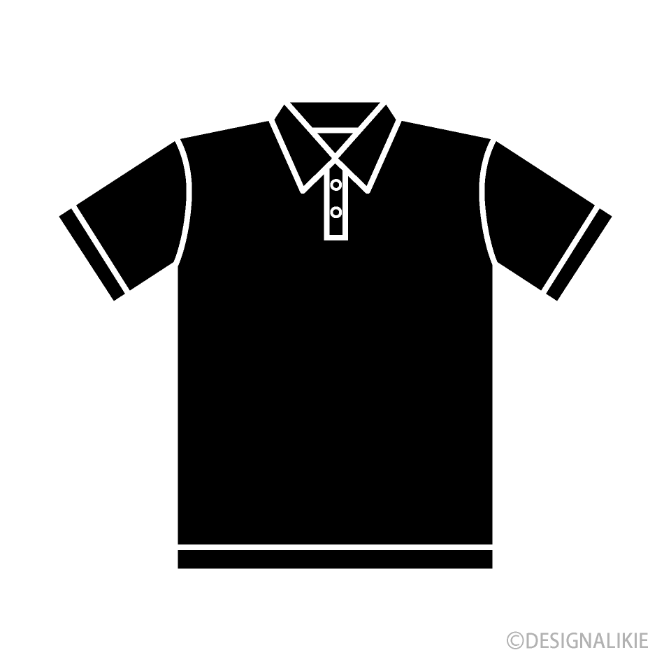 black polo shirt clipart