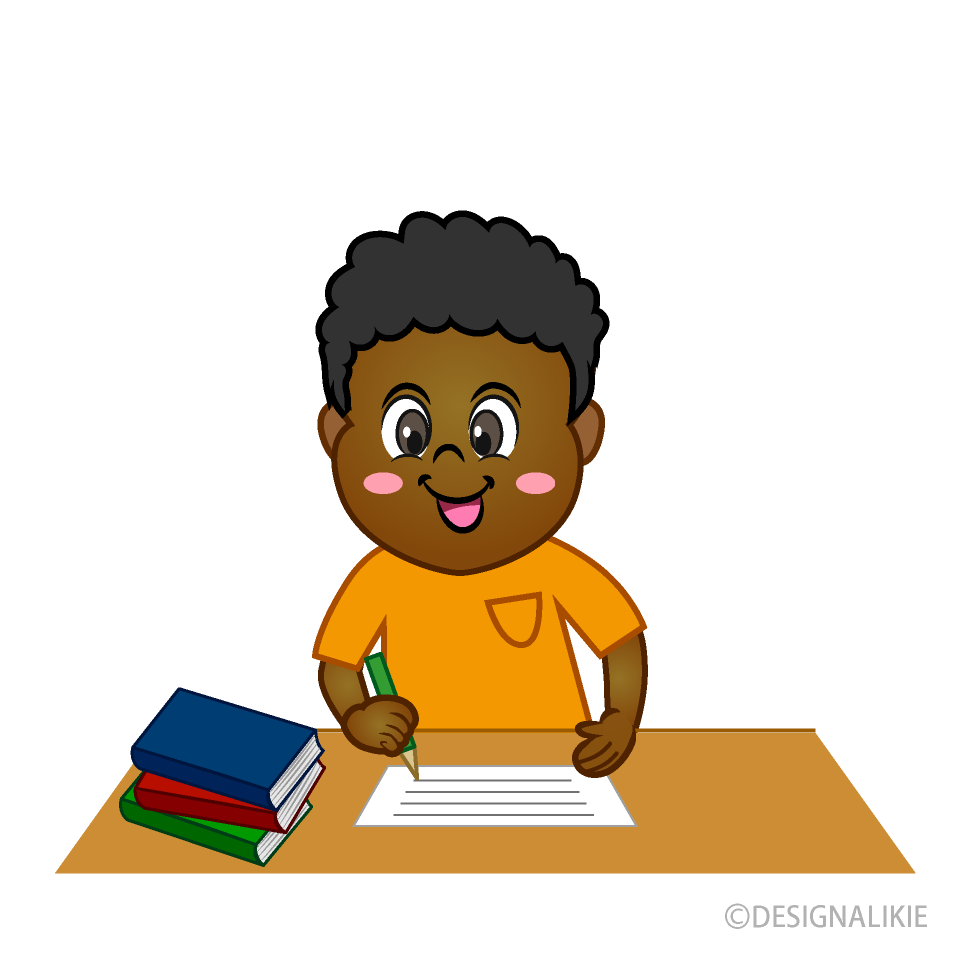 Smile Boy Writing Clipart