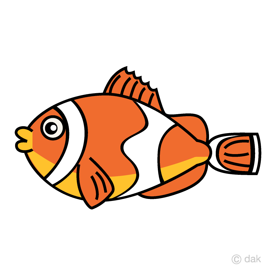 Clownfish Tropical Fish Clipart