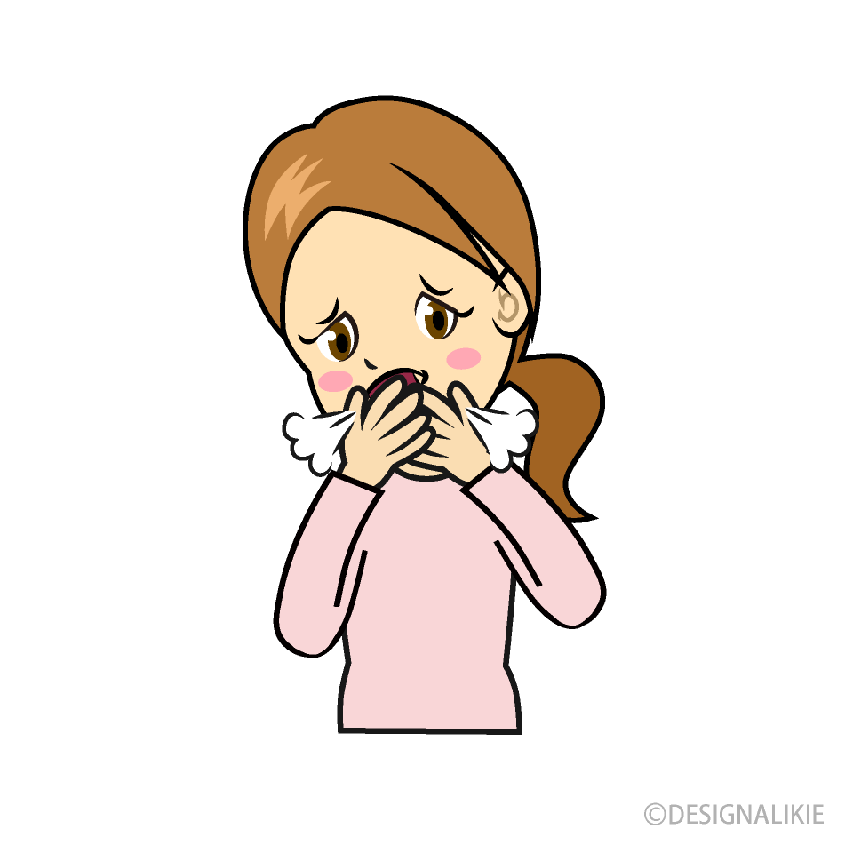 woman coughing cartoon free png image illustoon woman coughing cartoon free png image