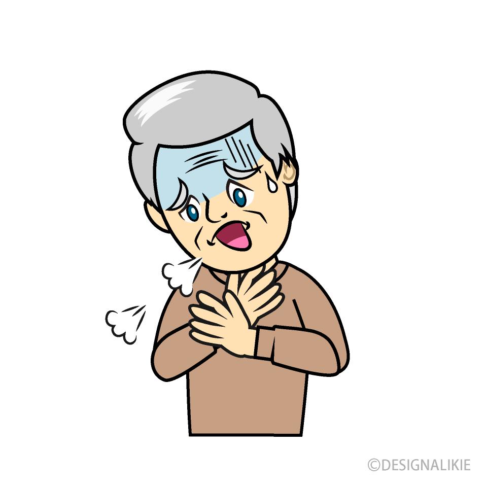 Difficulty Breathing Cartoon Free PNG Image|Illustoon