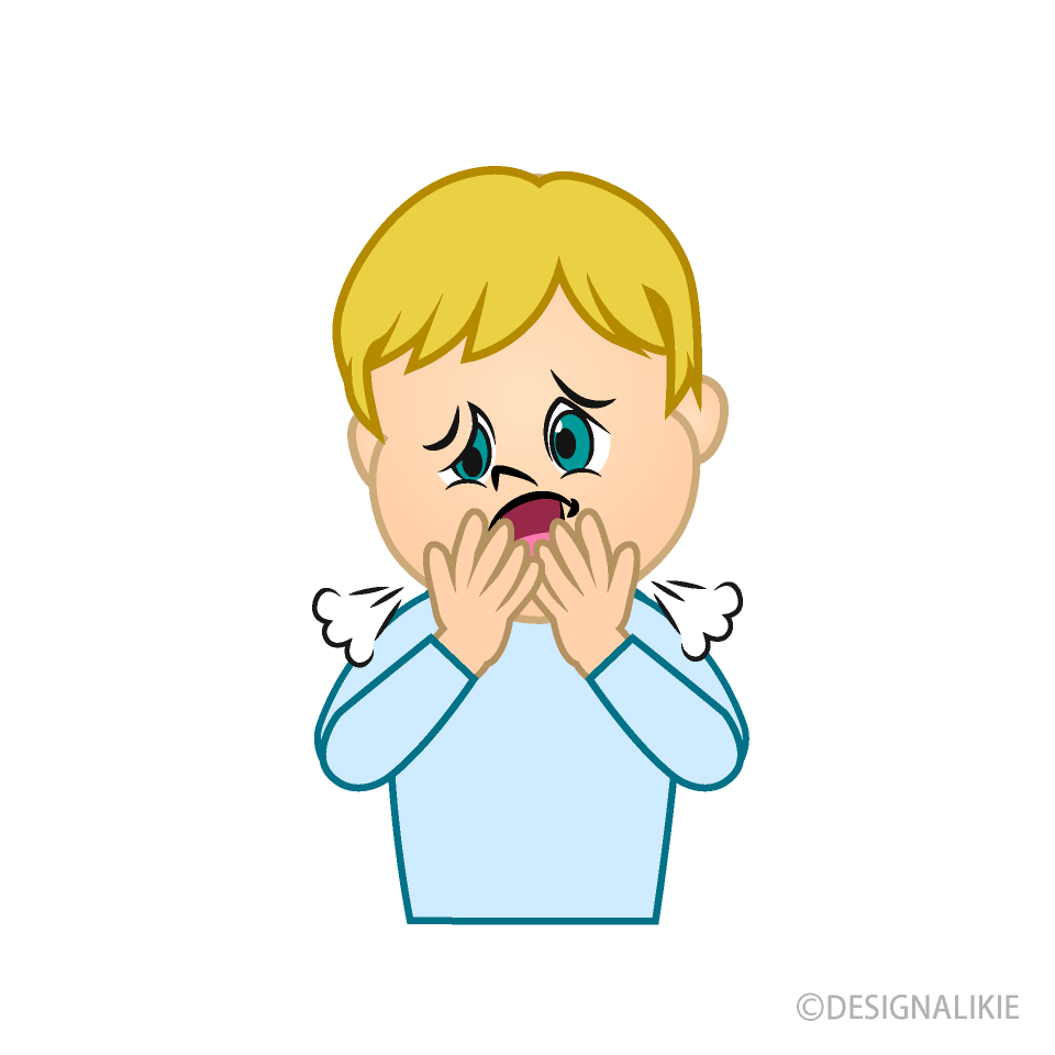 coughing boy cartoon free png image illustoon coughing boy cartoon free png image